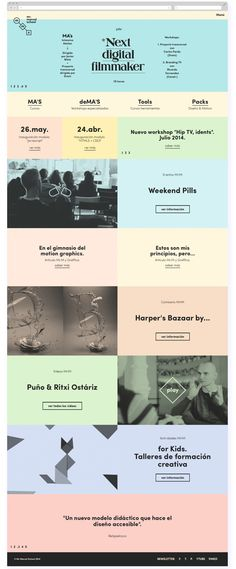 Web Mr Marcel School on Behance