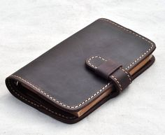 Personalized leather notebook  Leather journal book by CoverCafe
