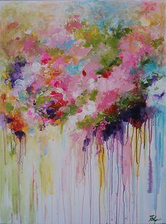 Acrílico sobre lienzo  100% pintado a mano  Pintura de acrílico sobre galería envuelto lona con grapas posteriores.   (Gracias por mirar! Pásate por mi tienda para pinturas originales más aquí: http://www.etsy.com/shop/mimigojjang?ref=si_shop ****************************************************************************** Descripción de la obra de arte  Acrílico sobre lienzo -Pintura de la flor título: Resumen -TAMAÑO: 40hx30w pulgadas  -MEDIO:... Acrílicos profesionales en lona de algodón…