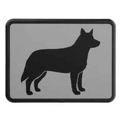 Australian Cattle Dog Silhouette Tow Hitch Cover