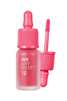 Peripera Ink Airy Velvet AD lip tint collection comes in various MLBB colours, delivering high colour payoff with a velvety finish. Peach Lips, Purple Lips, Rosy Pink, Korean Makeup Brands, Lip Plumping Balm, Lip Piercing Ring, Korean Lips, Korean Lip Tint, Lips Illustration