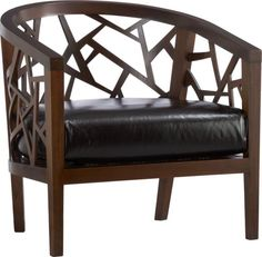 Crate & Barrel  Ankara Chair with Leather Cushion