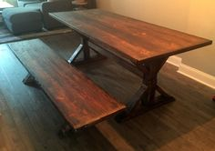 Rustic Trestle X-Table: The Canton by CharmCityWoodworks on Etsy