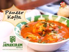 Paneer Koftas - Soaked in a creamy gravy! Perfect for a great dinner!! Try now at #Srijanakiramhotels #srijanakiram #evening #special #paneer