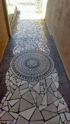 Different Types of Flooring Available on Different Buildings - Cornelius Adeniyi Mosaic Walkway, Pebble Mosaic, Stone Mosaic, Mosaic Art, Mosaic Tiles, Tiling, Mosaic Crafts, Mosaic Projects, Mosaic Designs