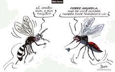 Charge de opinião do Dum sobre a febre amarela (10/01/2017) #Charge #Dum #FebreAmarela #Mosquito #Dengue #Zika #AedesAegypti #Chikungunya #Saúde #HojeEmDia
