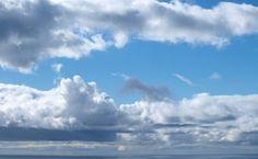 Nuvens sobre o Atlântico
