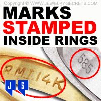 Marks Stamped Inside Rings! What do the Markings and Stamps inside your ring mean? - Jewelry-Secrets.com