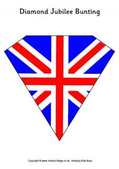 Free printable British flag Union Jack red white and blue rosette