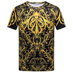 Sale 24% (13.99$) - Summer Stylish Mens 3D Royal Printing Casual O-neck Short Sleeve T-shirt