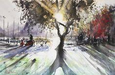 Radiance - Watercolor by Emmanuele Cammarano www.emmanuelecammarano.com