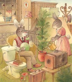 Kestutis Kasparavicius WATERCOLOR   Rabbit Marcus The Great