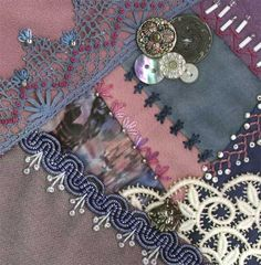 I dropped the button box - crazy quilt block 8
