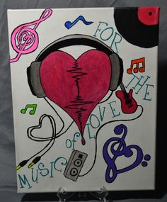 For the Love of Music Canvas