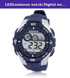 LEDLuminous watch/Digital watches boys/Sport Boys waterproof multifunction electronic watch-C. Watches Mirror Material: plexiglass mirror Movement Type: Electronic Watch Type: Male Style: Sports strap Material: Resin Shape: Round display: digital water depth: 100m additional features: 24 hours indicates GMT when the two chronograph alarm countdown calendar week luminous display month display table debit formula: buckle bottom of the table type : Normal crown type: dial thickness: 16.7mm…