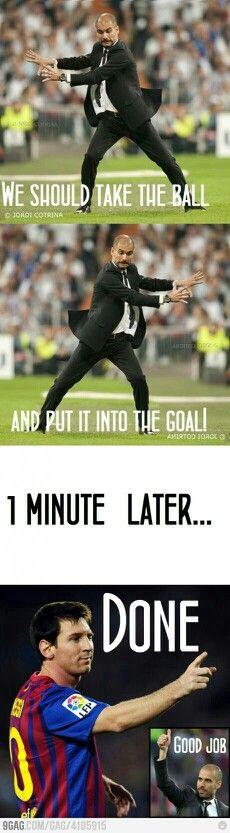 1. Guardiola 2. Messi 3. Goal