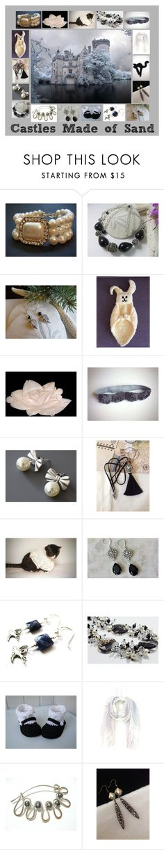 """""""Castles Made of Sand: Handmade & Vintage Gifts"""" by paulinemcewen on Polyvore featuring Natural Blue, rustic and vintage"""