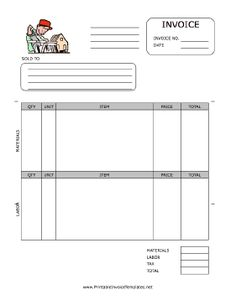 33 professional grade free invoice templates for ms word | zumba, Invoice examples