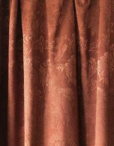 1890's Beautiful antique damask curtains in chestnut brown by MarieVintageStore on Etsy Vintage Iron, Vintage Items, Damask Curtains, Curtain Drops, Vintage Velvet, Red Wine, Antiques, Brown, Glass