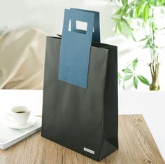 Black craft paper carrier bag, special paper bag, order made paper bag, high quality paper carrier bag