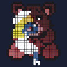 Schtroumpfette et Nounours Pixel Art