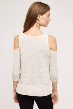 Spacedye Open-Shoulder Pullover - anthropologie.com