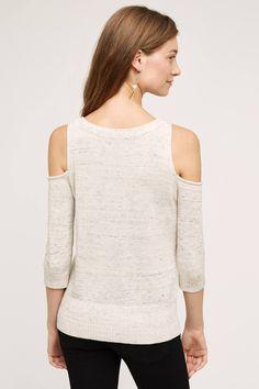 Spacedye Open-Shoulder Pullover - anthropologie.com