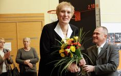 """Uljana Semjonova (Soviet Union) Uljana Semjonova is a Soviet-Latvian basketball player in the 70s and 80s. She won multiple championships in the Soviet Union and Europe. Semjonova also won gold medals for USSR in the 1976 and 1980 Olympics.  With a height of 6'11"""" Semjonova is not the tallest female basketball player but she does have the biggest shoe size, wearing a men's 21 (US) / 58 (EU) shoe."""