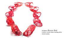 Myung Urso - neckpiece Breeze - red 2014