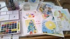 watercolor journal..