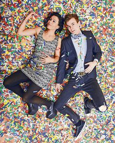 Matt and Kim. These two make every day of my life better with their awesomely upbeat tunes. They are so inspiring... being married and traveling the world together doing what they love most - putting on damn good shows. #MakeTodayBetter