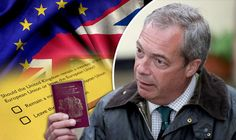 EU CITIZENS sent polling cards to vote in REFERENDUM! Non British sent polling cards in worrying attempt by Government to fraudulently change Brexit vote -  Nigel Farage holds up a British passport