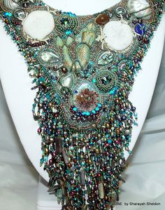 Enchanting Mermaid  Bead Embroidery Necklace by 4uidzne on Etsy, $875.00    NOW 10% OFF