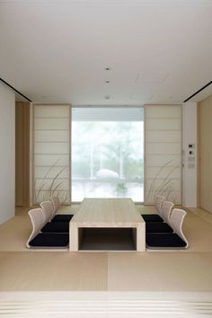 modern living room in japanese house