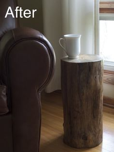 Log Side Table