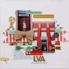 #Papercraft #Scrapbook #Layout.  Happy are We
