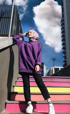 Modest Fashion Hijab, Modern Hijab Fashion, Street Hijab Fashion, Casual Hijab Outfit, Hijab Fashion Inspiration, Muslim Fashion, Casual Outfits, Mode Abaya, Mode Hijab