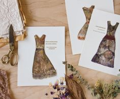 Lisa Stamper Meyer's dresses are perfect for forest fairies flitting amongst the trees.   Somerset Studio