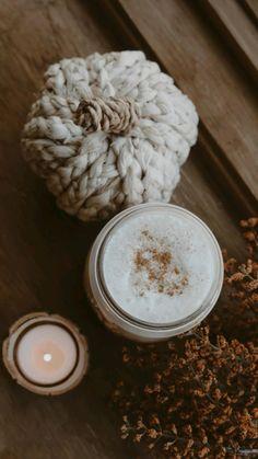Coffee Creamer, Iced Coffee, Coffee Drinks, Coffee Cups, Dollar Tree Pumpkins, Fall Table Settings, Autumn Coffee, Autumn Decorating, Tea Packaging