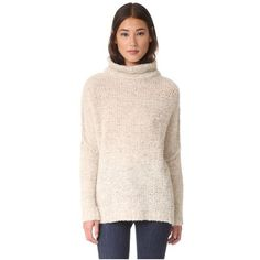 Free People She's All That Pullover Sweater (£99) ❤ liked on Polyvore featuring tops, sweaters, ivory, pink turtleneck sweater, long sleeve sweater, pink pullover sweater, pink turtleneck and long sleeve turtleneck