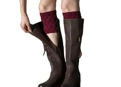 GAMT Womens Wool Knitting Short Thick Bamboo Flowers Socks Wine red * Learn more by visiting the image link.