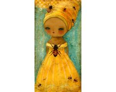 ≗ The Bee's Reverie ≗ Lady Bee (The Secret Life Of Bees) by Danita Art, via Flickr