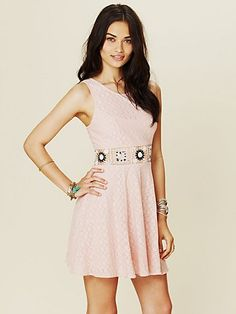 Colorblock Daisy Fit-n-Flare  http://www.freepeople.com/whats-new/colorblock-daisy-fit-and-flare-dress/