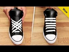 5 amazing ways to tie your laces. You will be the envy of your living room - Ways To Lace Shoes, How To Tie Shoes, Your Shoes, Converse Chuck Taylor, Converse All Star, Ways To Tie Shoelaces, Diy Clothes And Shoes, Adidas Superstar, Facon