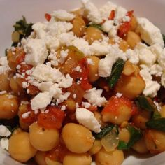 Chickpeas With Spinach (Greek) Recipe