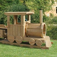 Amish Made Train Engine Locomotive Playground Set is handcrafted by skilled Amish woodworkers. These playground sets are built to withstand the elements and are constructed using Wolmanized Pine Lumber and stainless steel hardware. Backyard Play, Backyard For Kids, Outdoor Projects, Wood Projects, Outdoor Decor, Playground Set, Diy Kids Furniture, Wooden Train, Woodworking For Kids