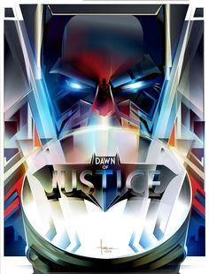 "by Orlando Arocena. Tribute To Zach Snyder's ""Batman V Superman: Dawn Of Justice"" by Creator Poster Posse"