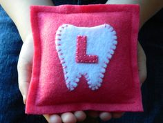 Monogrammed Felt Tooth Fairy Pillow by LittleBirdieandMe on Etsy, $6.00