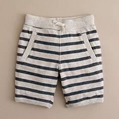 Boys cotton striped shorts