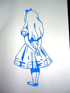 alice in wonderland stencils - Google Search